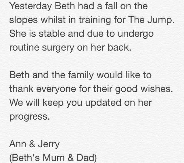 An update on Beth... https://t.co/UEprlA7VEV