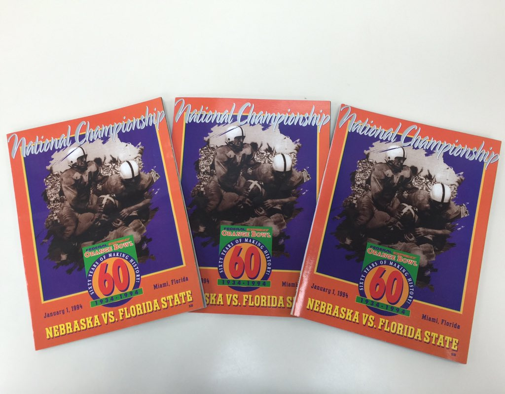 Follow and retweet for your chance to win an original uncirculated program from the 1994 National Championship! #FSU https://t.co/fTIxnJ4F48