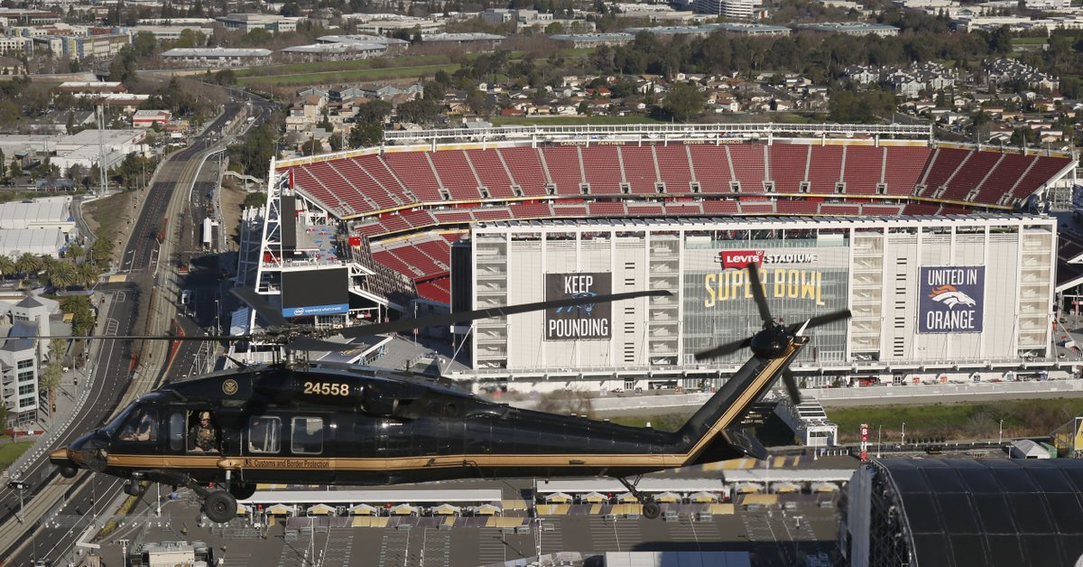 RT @CustomsBorder: It's SuperBowlSunday! All week CBP & @DHSgov components have been working to secure SB50. htt…