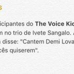 "Ivete Sangalo acabou de mencionar ""Demi Lovato"", em seu bloco de carnaval. #BandFolia https://t.co/ag3Tj9BBa7"