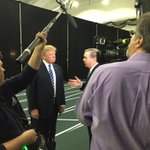 Behind the scenes with @CSPAN and @SteveScully interviewing @realDonaldTrump before his rally in New Hampshire. https://t.co/BotNL0uUIq
