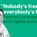 Civil rights activist Fannie Lou Hamer dedicated her life to securing voting rights & ending racial injustice. #BHM https://t.co/dQYPhqA1vD