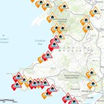 #Flood warnings S & W #Wales coast. Gale force onshore SW winds and spring tides = large waves! @NatResWales https://t.co/dFlzxfKWzO