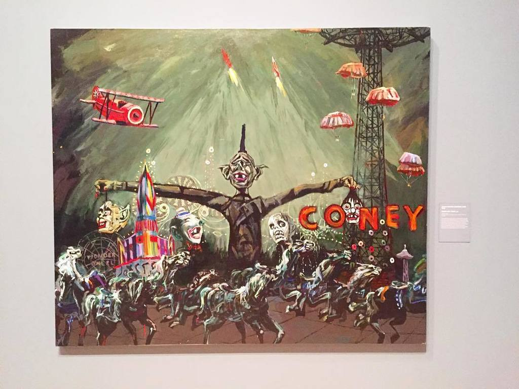 the new Coney Island exhibit at @brooklynmuseum is a little twisted, very weird, & totally awesome. 10/10 would Con… https://t.co/5BuHH2hKel