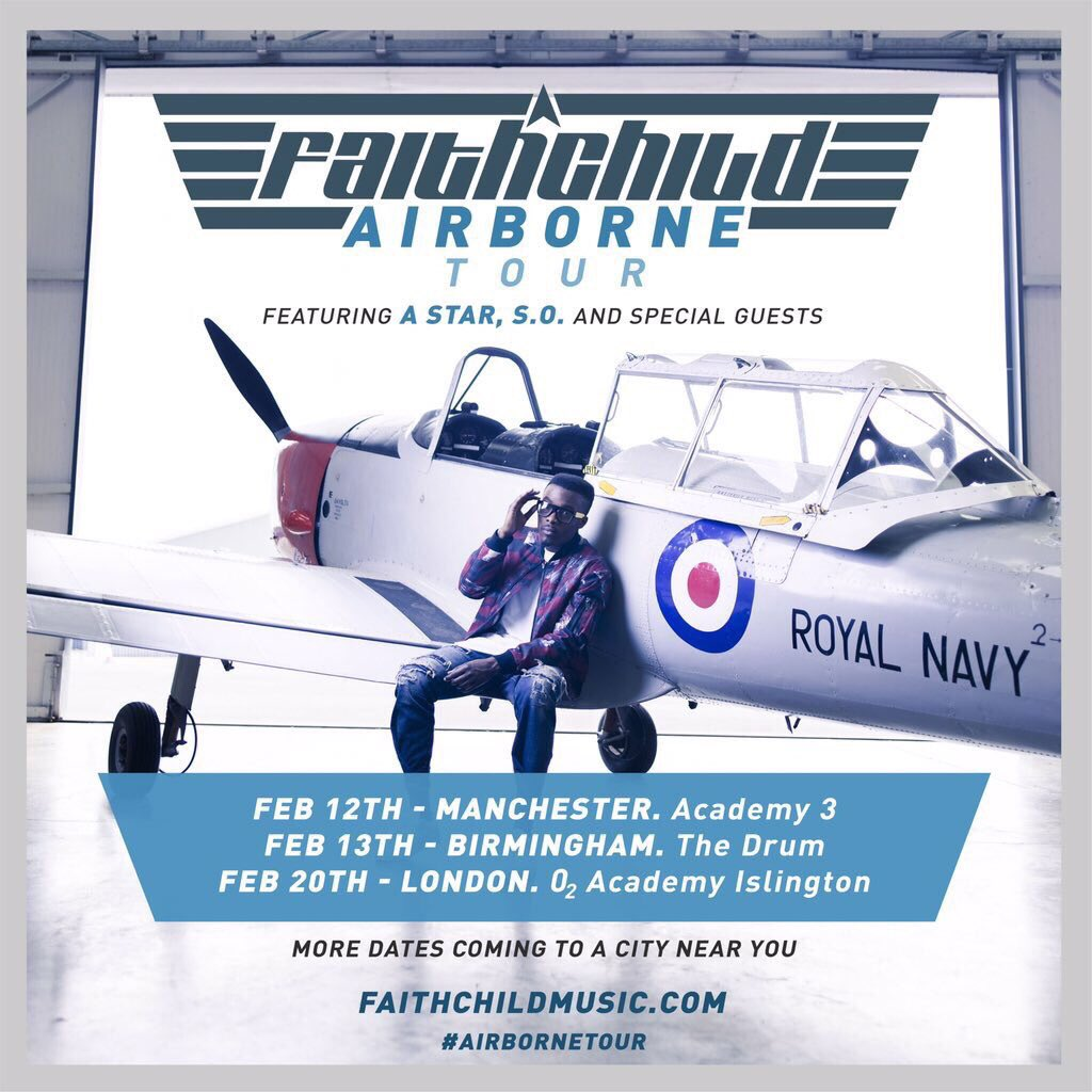 Yo!!! @FaithChildMusic hits the road on tour this coming week. #Manchester #Birmingham & #London, make sure you go. https://t.co/QXlIexbbhL