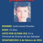 @AlertaAngelsv informa que ya se localizó a Jordi Orantes. Se inició investigación del caso. Gracias por su apoyo. https://t.co/TNUntagQzu