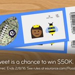 One RT could win you $50K. That's a lot of 👑🐝 concert tickets! #EsuranceSweepstakes #SBHalftime #SB50 https://t.co/HQtBv2L1TX