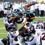 #SB50 Final del segundo cuarto: #Broncos 13-7 #Panthers. A continuación Coldplay, Beyonce y Brunos Mars. https://t.co/ozIQmDr84P