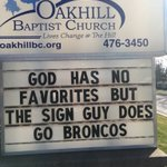 Church sign in Evansville IN wins Super Bowl Sunday. #SuperBowl50 https://t.co/LKhPX2Xedm