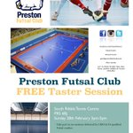 Sign up for our free taster event now!! #FutsalSunday #Futsal #Preston https://t.co/H36HCzL8qc
