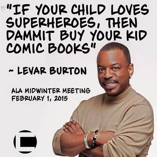 The wisdom of @levarburton. #comics #blackcomics #startrek #readingrainbow #literacy https://t.co/3zO9DWa3Ot https://t.co/J8KvxWQ3hB
