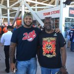 Ran into the @Jaguars Michael Bennett. He brought his dad to the game. #ASJax #SB50 https://t.co/8P1SeSevlw