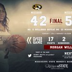 FINAL | @iTsMorgan_2 leads boards as No. 11 Bulldogs defeat No. 22 Missouri #HailState https://t.co/0mhfZdaRgT