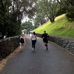 Heaps of people walking, cycling and running on the now-carless Mt Eden access road this morning. Its great! https://t.co/2K6487GcAs