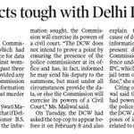 DCW acts tough with Delhi Police https://t.co/AGPqHpIPvI