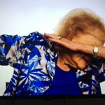 Betty White, dabbing since the Golden Girls. https://t.co/2vxJ2XzZ2Q