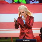 Wow, @ladygaga is singing her heart out for this national anthem, guys! #SB50 https://t.co/YCfOxinKPk