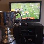 The Grey Cup watching #SB50 #TrophyRespect https://t.co/DAmMaudu4m