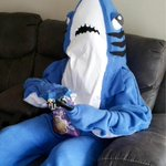 Left shark waiting for the half time show. #SuperBowl https://t.co/HM6wdIEnwI