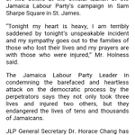 UPDATE: JLPs Horace Chang requesting urgent meeting with Police Commissioner and PNP General Secretary Paul Burke https://t.co/Mxeenl3Uvm