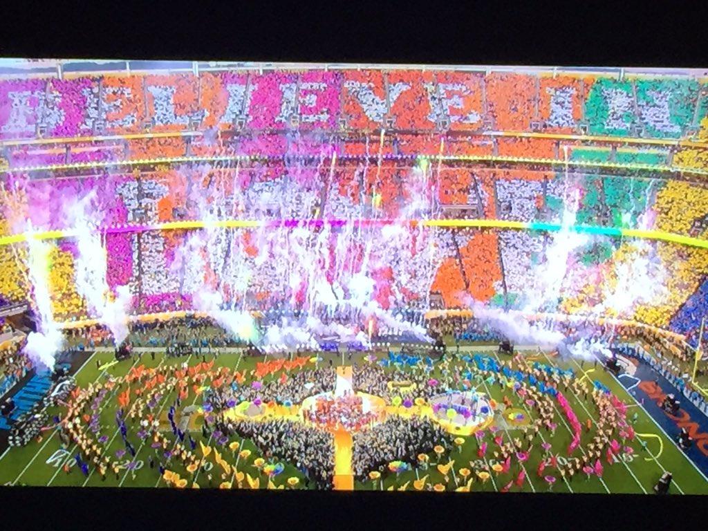 I believe in love! #nfl #halftime #sb50 #IBelieveInLove #Super Bowl https://t.co/5NZX3r7fhG