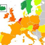 Het aandeel duurzame energie in Europa. Dan snap ik wel dat minister Kamp het bijltje erbij neergooit. https://t.co/bcydv733Ux