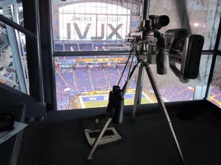 Super Bowl 46 XLR rifle on over watch. https://t.co/hOh5uR7evS