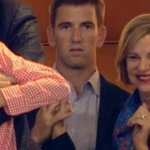 Eli is thrilled for his brother #SB50 https://t.co/agkSBcLHTA