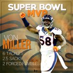 Congrats to Von Miller, MVP of Super Bowl 50! https://t.co/Ycsv9A3RZD