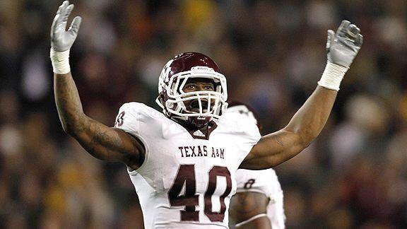 Gig 'em to @Millerlite40 for being named #SB50 MVP! Von is the first Aggie to earn this honor!
