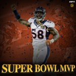 Von Miller is the MVP for #SB50. 6 Tackles 2.5 Sacks 2 FF https://t.co/pRVlqszHTW