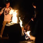 Fans light a couch on fire on University Hill in #boulder after the #DenverBroncos win #SB50 #SuperBowl https://t.co/ILiCyOsyMk