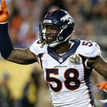 Símbolo da defesa dos Broncos, Von Miller é eleito o MVP do Super Bowl 50; https://t.co/NnxuKbtlfJ https://t.co/gPhmEXkzRI
