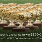 The big game trophy costs around $25K to make. You could buy 10 if you score $250K in the #EsuranceSweepstakes! https://t.co/2hAq8A1LKa