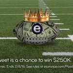 The final #EsuranceSweepstakes champion has yet to be crowned. RT for a chance to win $250K. #SB50 https://t.co/LIngX67y7h