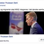 """DF & KTD annoncerer direkte mod Inger Støjbergs følgere på Facebook med """"anti-integrations""""-budskab. #dkpol #SoMedk https://t.co/Uz7eDAx27F"""
