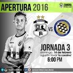 #Primera | ¡Próximo reto!  #ZamoraFC - #ACMineros | Dom. 14 - 6:00 pm | Jornada 3 #Apertura2016 🔵⚽ #VamosALaCarolina https://t.co/RfmbGPhsWr