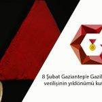 Gaziantepe Gazilik unvanı verilişinin 95. yıldönümü bugün...  Gazi şehrimize kutlu olsun. https://t.co/hgsQIGr8Ft