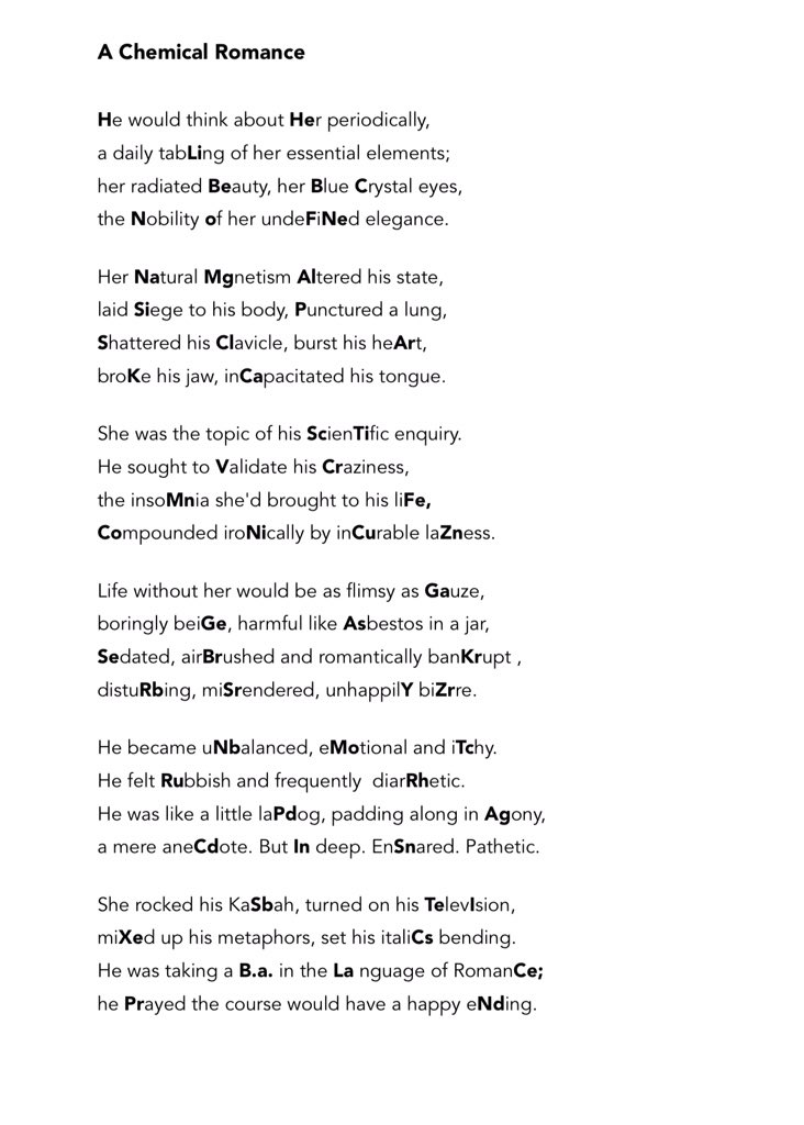 To celebrate dmitri mendeleevs birthday heres a poem containing to celebrate dmitri mendeleevs birthday heres a poem containing the first 100 elements of the urtaz Image collections