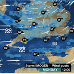 The southern half of the UK will bear the brunt of #StormImogen. Heres how the day shapes up. Ben R https://t.co/fjO7PRWHOG