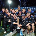 Brendon McCullum bids farewell to ODIs with NZ retaining the Chapell - Hardlee Trophy. #NZvAUS https://t.co/XLmVITQ0E4