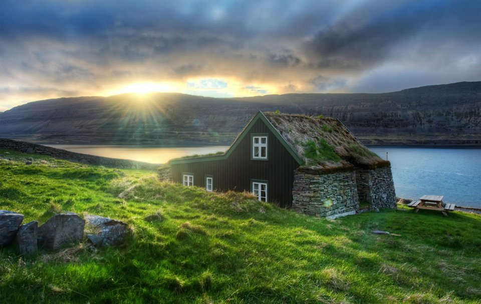 House With Grass Roof In Suyavik, Iceland | Photography by ©Trey Ratcliff https://t.co/XmD6ZatzyB