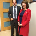 Joan Burton bumps into rival @campaignforleo while lodging election papers #GE16 https://t.co/pd5HntmPx2