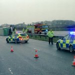 The M4 is closed in both directions at Margam due to an overturned lorry. https://t.co/tos5icDuzw https://t.co/u8UuKxO1XA