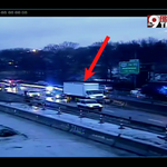 Semi crashed into the cement median on I-75 S just past the Norwood Lateral @WCPO #9Traffic https://t.co/B3oIYWgDMT