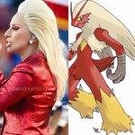 """""""Lady Gaga vs Blaziken"""" #SB50 https://t.co/lxqlNa7nD1"""