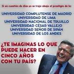 Pueblo peruano! Abran los ojos!! No ha este delincuente ! El Plagio es DELITO! https://t.co/nbRvR2Hc7R