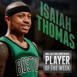 Congratulations to @Isaiah_Thomas, who has just been named Eastern Conference Player of the Week. https://t.co/UYhECe39lt