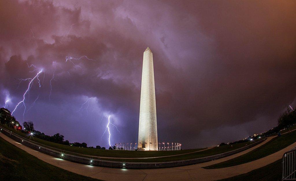 Lightning over Washington Monument | Photography by ©@AnthonyQuintano https://t.co/hfJTQ1svpv