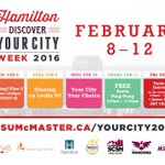 Weve partnered with @MSU_McMaster for #DiscoverYourCity Week! Helping @McMasterU students explore #HamOnt. https://t.co/CONckYtfqU